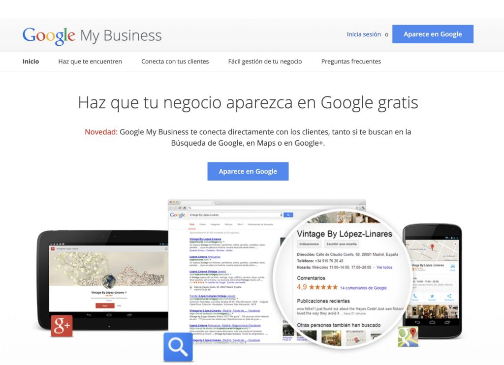 Cambios en Google My Business